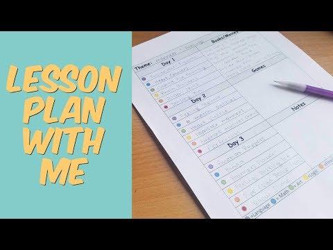Lesson Plan With Me || Homeschool Preschool