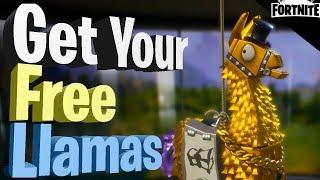 FORTNITE - Get Your Free Llamas (Opening 4 Legendary Troll Stash Llamas)