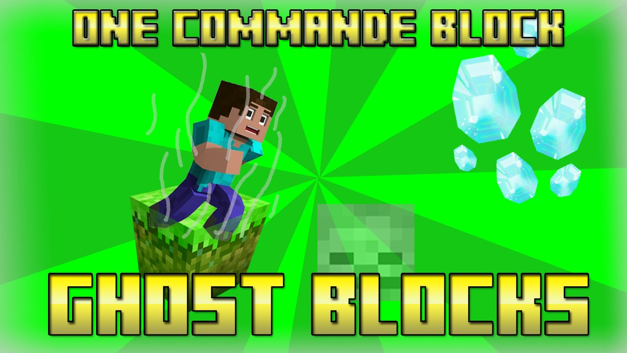 ghost blocks in one commande block minecraft 1 8 4 youtube. Black Bedroom Furniture Sets. Home Design Ideas