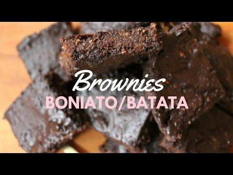 Cómo hacer brownie de boniato vegano