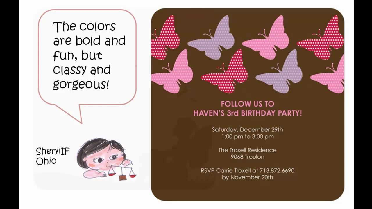 Beautiful butterfly birthday party invitations your little girl will beautiful butterfly birthday party invitations your little girl will surely love filmwisefo