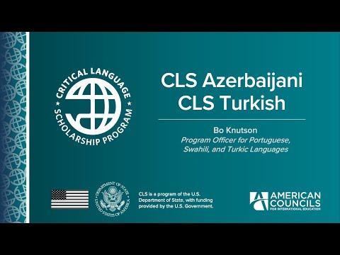 CLS Azerbaijani & Turkish Information Session