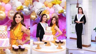 ayesha omer birthday celebrations in nida yasir morning show
