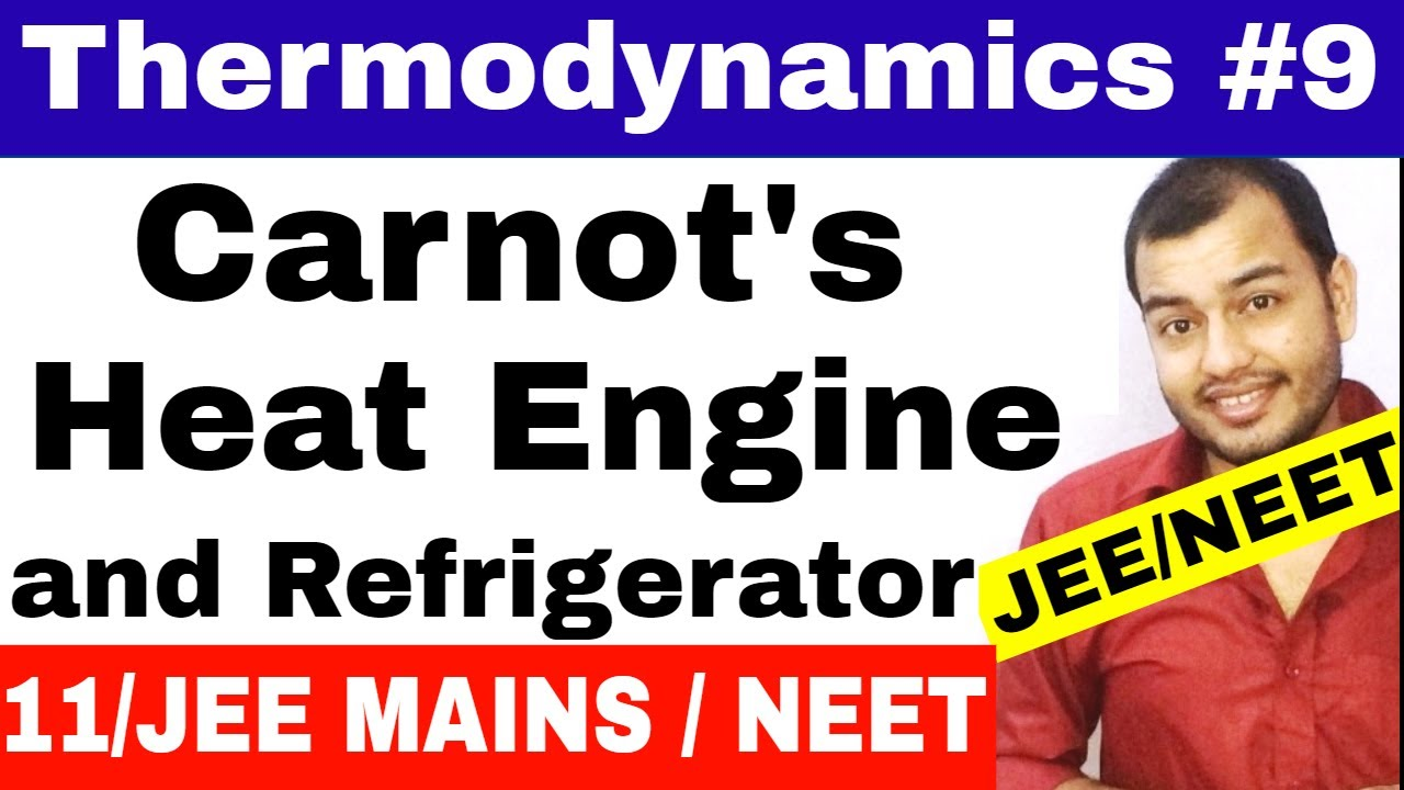 Thermodynamics 09 Carnots Heat Engine Working Graph And Refrigerator Diagram Jee Mains Neet