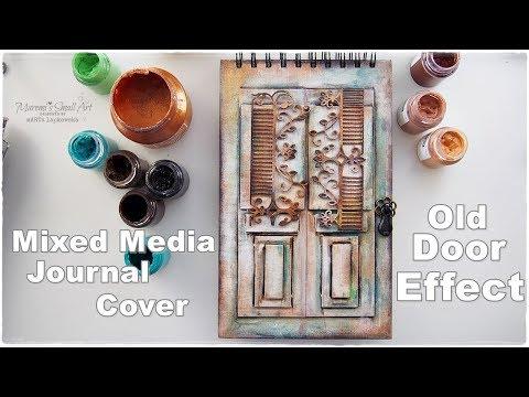 DIY Old Door Effect Journal Book Cover Tutorial ♡ Craft Hack ♡ Maremi's Small Art ♡
