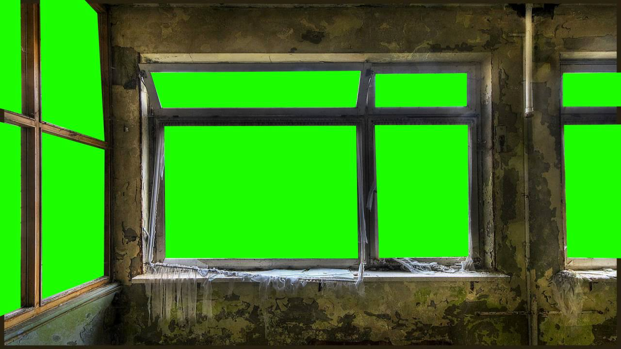Scary Room In Green Screen Free Stock Footage