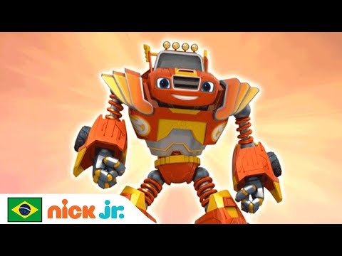 Blaze and the Monster Machines | Video Musical 'Força de robô' 💪 | Nick Jr. | Brazil | Português