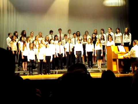 Blow Bugle Blow Sung By  Harmony Middle School 8th Graders.AVI