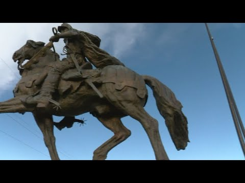 Filmmakers claim to find thief who stole foot off Oñate statue