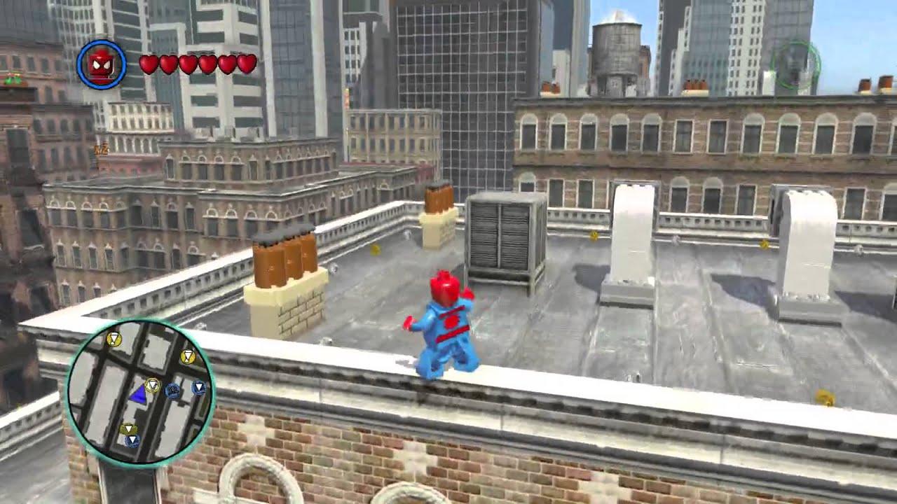 lego spiderman games free roam