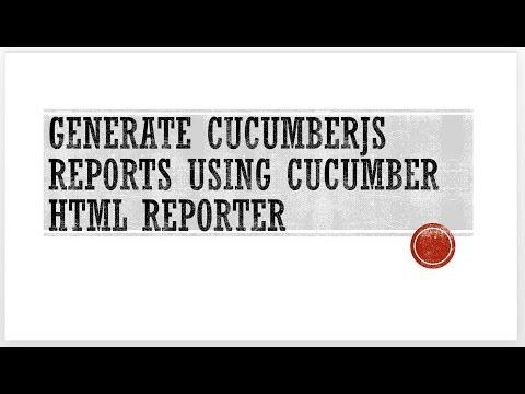 CucumberJS(BDD framework) with Selenium Webdriver - generate reports