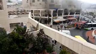 שריפה במרכז סנטר גארדן בביתר