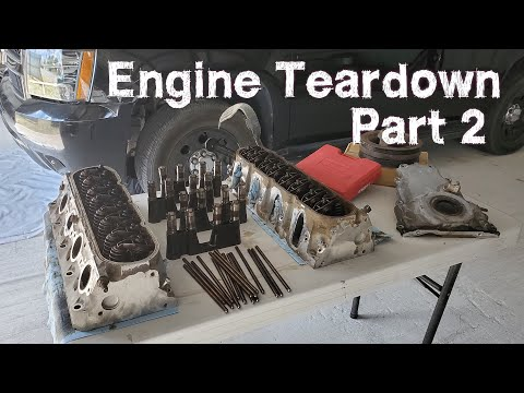 CHEVY LS 5.3 Engine Teardown | Removing Rockers, Lifters and Heads