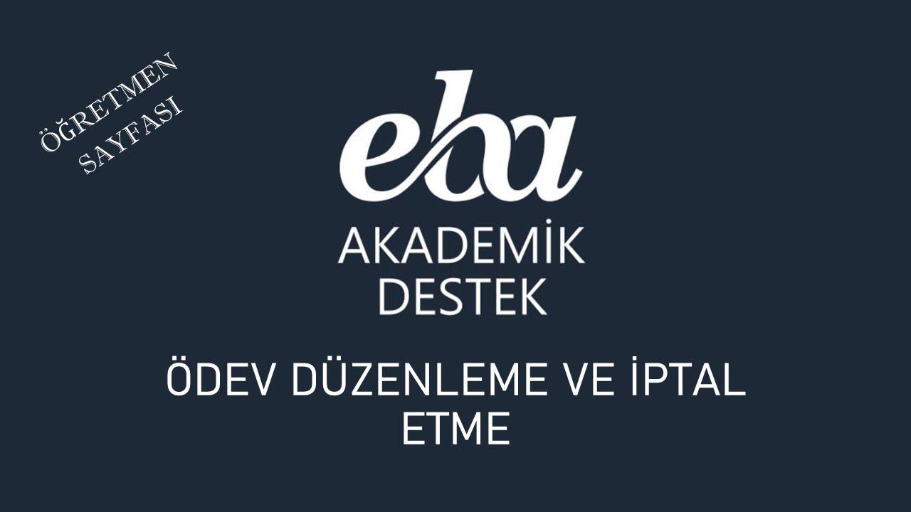 EBA Akademik Destek - Öğrenci Takibi Nasıl Yapılır