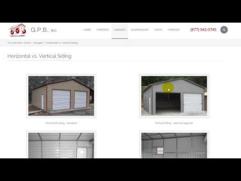 Garage Pricing Demo | Metal Garages, Steel Buildings - G.P.B., Inc.