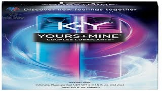 Lubricant for Him and Her K-Y Yours & Mine Couples Lubricant 3 oz Couples Personal Lubricant and