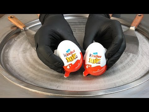 Ice Cream Rolls | kinder Joy – Super Surprise Eggs / Fried rolled ice cream roll chocolate with toys