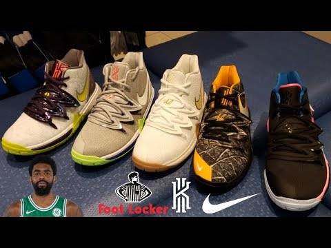 125af52d3f4a04 KYRIE IRVING S GS NIKE KYRIE 5 SNEAKER RELEASES AT FOOT LOCKER - YouTube