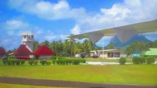 Air Tahiti Airlines-Tahiti to Bora Bora Airport-  Motu Mute