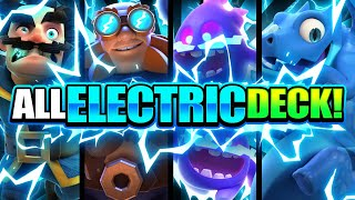 100% ALL ELECTRIC DECK ACTUALLY DOMINATES IN CLASH ROYALE! 😱