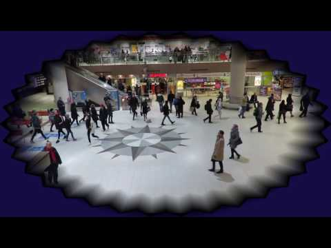 Metro station Helsinki Finland with relaxing music.