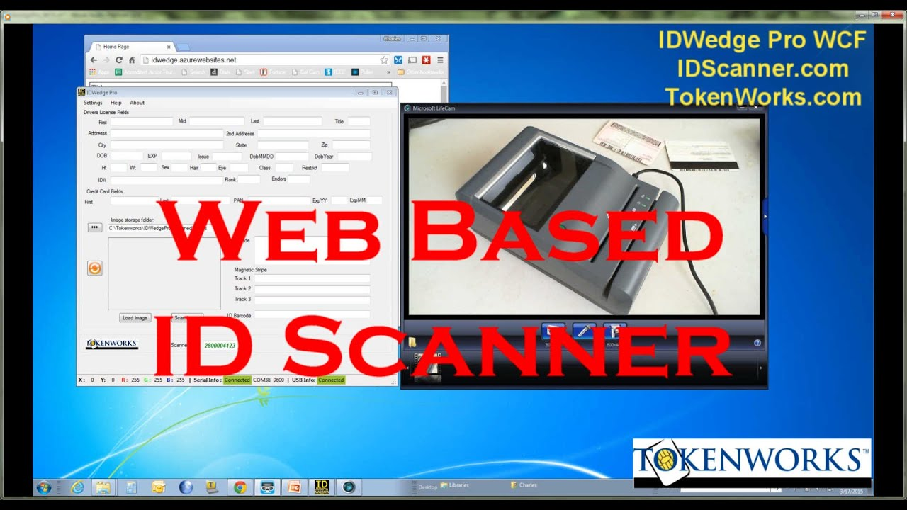 Web Browser ID Scanner Solution - IDWedge Pro - Scan Drivers license to Web