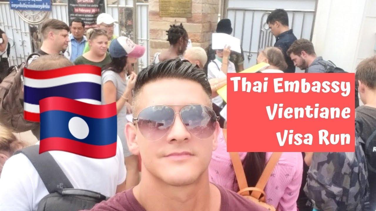 Thai Embassy Vientiane Laos Visa Run - Thai Visa Run to Vientiane Laos with Nomadic Nava