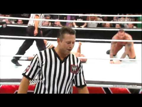 Randy Orton RKO on Antonio Cesaro - Raw - January 28, 2013