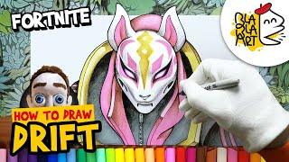 HOW TO DRAW DRIFT Skin | Fortnite Battle Royale Characters Drawing | BLABLA ART