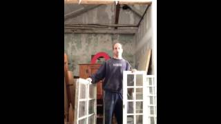 Making A Cabinet With Old Windows