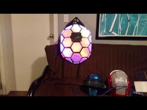 Arduino rgb LED turtle backpack