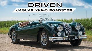 Jaguar Xk140 / XK 140 Roadster 1956 - Test Drive in top gear - Engine sound   SCC TV
