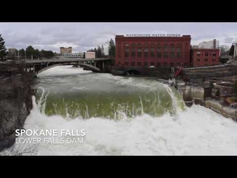 Spokane River Above Flood Level 2017