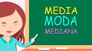 MEDIA, MODA y MEDIANA Muy Fácil - Medidas de Tendencia Central