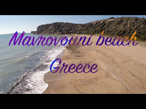 Mavrovouni beach - Foinikunda Messinia Greece | Aerial Drone Video 2.7k