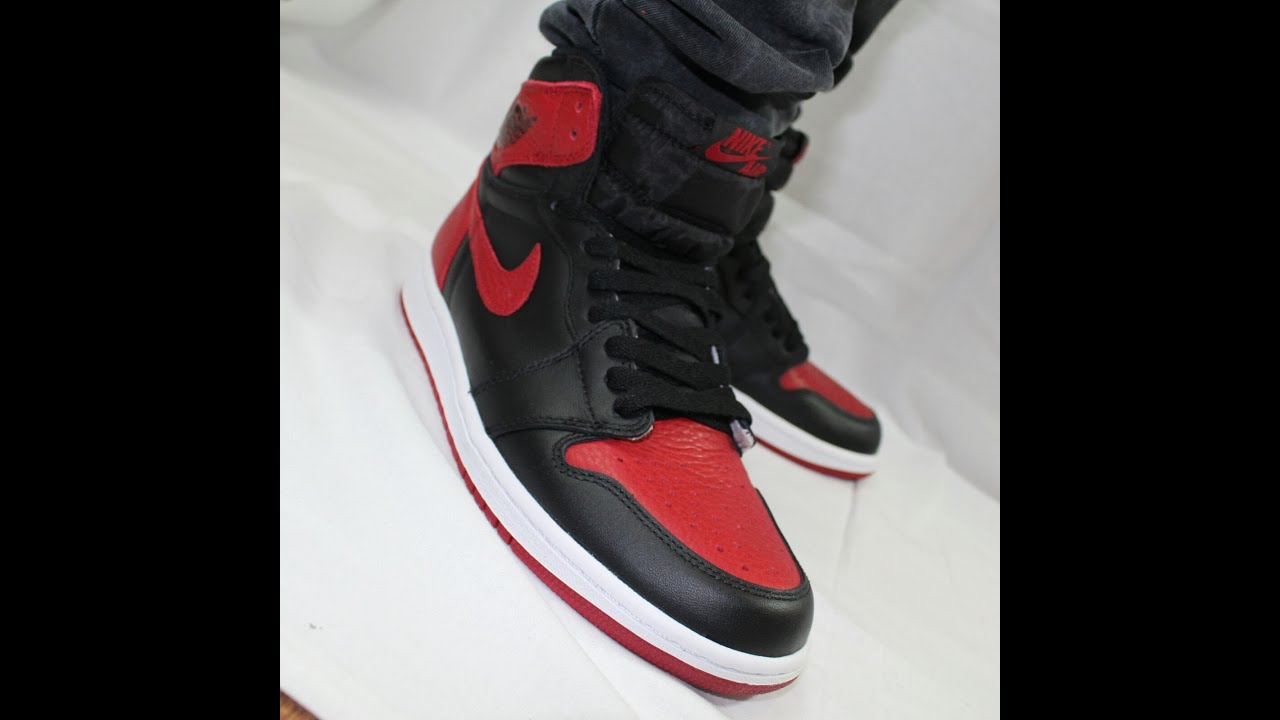 e6632f140628d Air Jordan 1 Bred   Banned  Unboxing