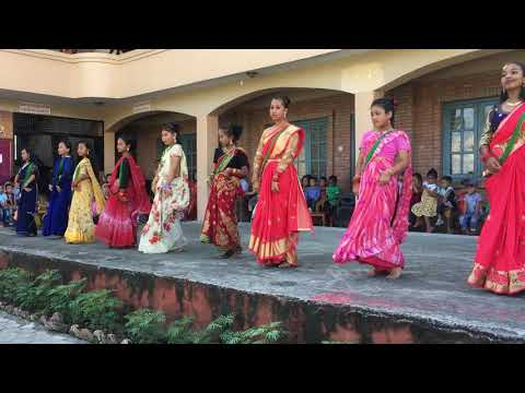 Teej Dance 2076 by Class 7 at Harvard Academy
