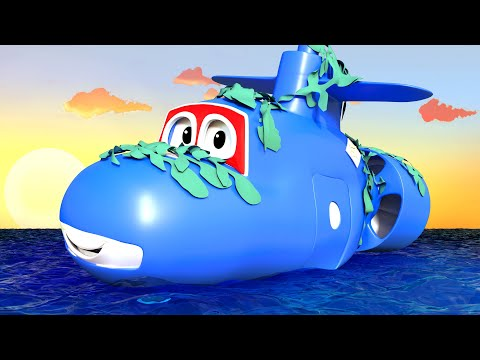 The SUBMARINE - Carl the Super Truck in Car City! Superheroe Truck Video for Children Cartoons