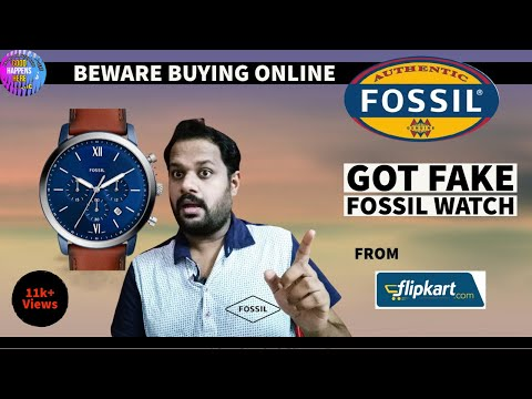 GOT FAKE OLD FOSSIL WATCH - FLIPKART