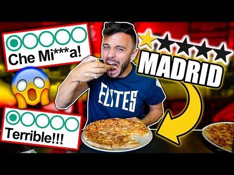 🍕MANGIO nella PIZZERIA PEGGIO VALUTATA di MADRID!!! *schifosa*