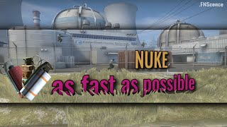 NUKE in 2020 as fast as possible (trickjumps, wallbangs, smokes, one-ways, utility) | CS:GO