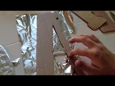 DIY Faux Metal Letters