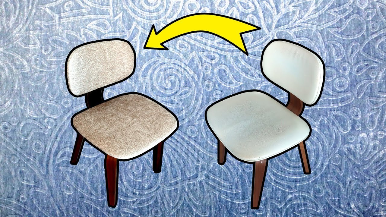 Diy Reupholster Dining Chair Youtube