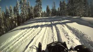 2011 Ski-Doo FreeRide on Rough Trails