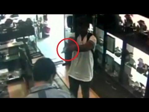 CCTV shows gunman firing in Chandigarh jewellery shop