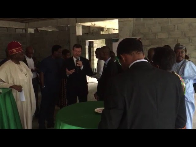 Commissioning of the NBCC Plaza by the British High Commissioner - Paul Arkwright
