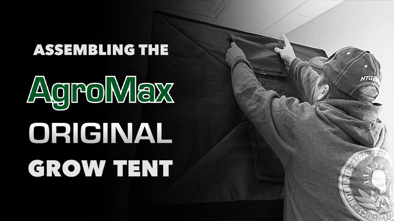How to set up AgroMax Original 3x3 Grow Tent & How to set up: AgroMax Original 3x3 Grow Tent - YouTube