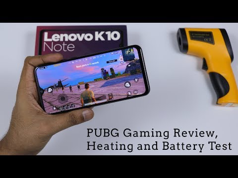Lenovo K10 Note - PUBG Gaming Review, Graphic Settings, Heating And Battery Test 🎮🕹️
