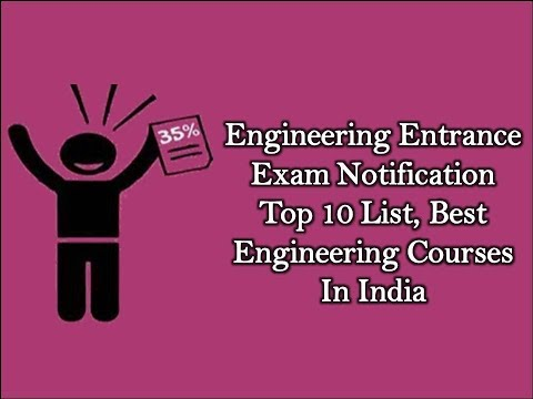 Engineering Entrance Exam Notification | Top 10 List, Best Engineering Courses In India