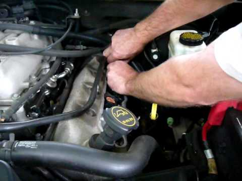 Changing ignition coils on a 2004 Lincoln Aviator Ford Explorer